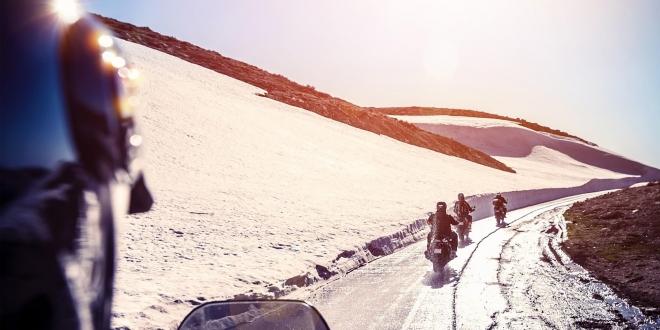 Jazda v zime na motocykli